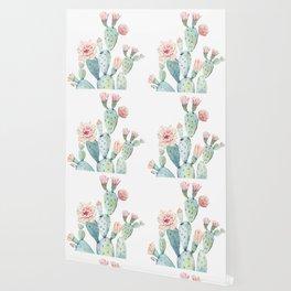 Cactus 2  White #society6 #buyart Wallpaper