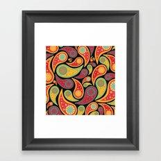 Bohemian Paisley  Framed Art Print