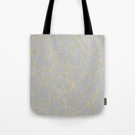 Ab Outline Gold and Grey Tote Bag