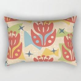 Mid Century Modern Butterfly Garden 201 Rectangular Pillow