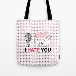 I Hate You / Box Tote Bag