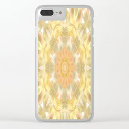 Sunset Kaleidoscope Abstract Clear iPhone Case