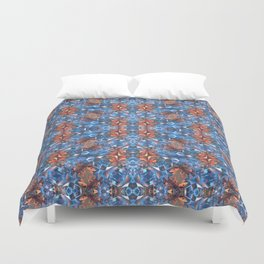 Blue and Red Glamour Stars Duvet Cover