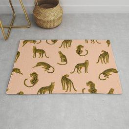 Blush Leopard Pattern Rug