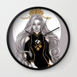 Lotus crown Wall Clock