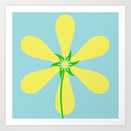Flower Power - Blue Art Print