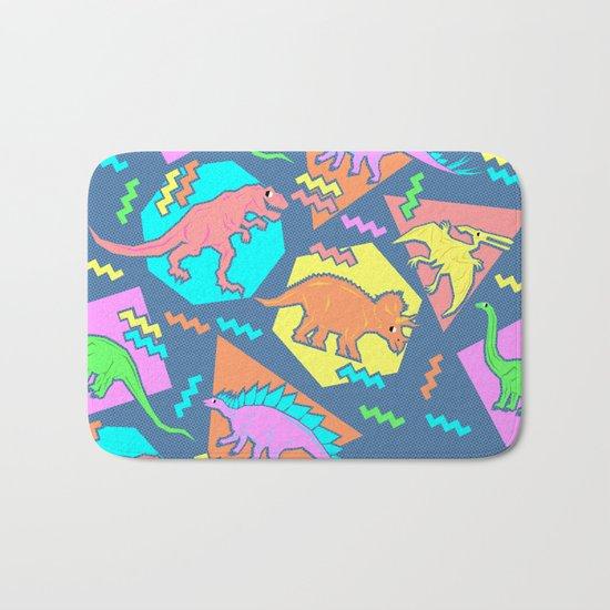 Nineties Dinosaur Pattern Bath Mat