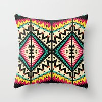 tribal Throw Pillows featuring Tribal by Ornaart