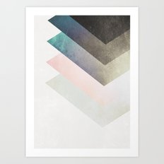 Geometric Layers Art Print