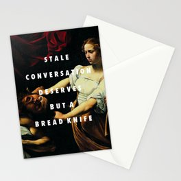 Stale Conversation Stationery Cards