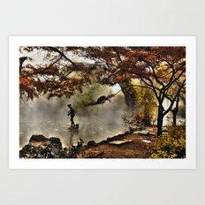 Steamy days Art Print