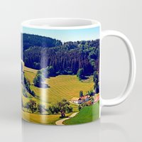 hiking Mugs featuring Hiking through springtime scenery by Patrick Jobst
