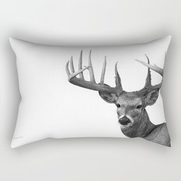 The Majestic Trophy Buck - Deer Graphite Pencil Drawing - by Julio Lucas Rectangular Pillow