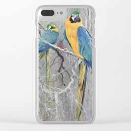 Kuhnert, Friedrich Wilhelm (1865-1926) - Wild Life of the World 1916 v.2 (Blue Macaw) Clear iPhone Case