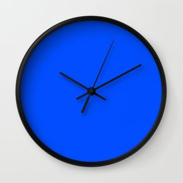 Tropical Blue Solid Color Wall Clock