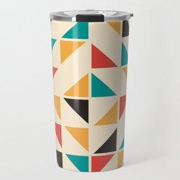 Triangles Mid Century Pattern Travel Mug