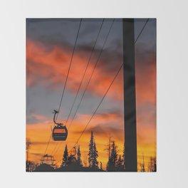 Paint the Sky Orange Throw Blanket
