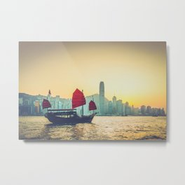 Sail Past Metal Print