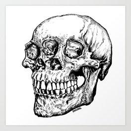 Skull Eyes Art Print