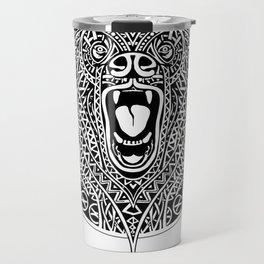 Bear Mandala ornamental Travel Mug