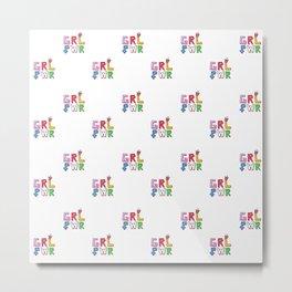 GRL PWR pattern Metal Print