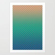 Polka Plankton Blue Art Print