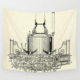 Locomotive Steam Engine-1837 Wall Tapestry