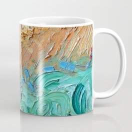 Wheat Field with Cypresses Brush Detail by Vincent van Gogh Coffee Mug