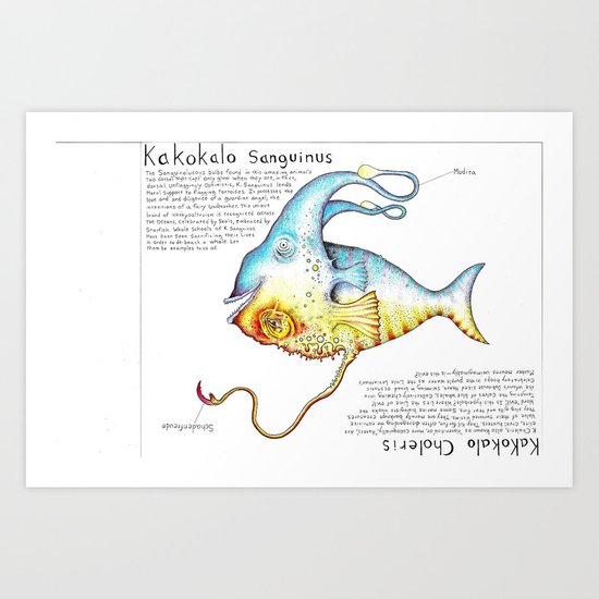 Good Fish Bad Fish Art Print