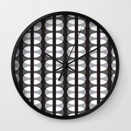 Geometric Pattern #186 (gray ovals) Wall Clock