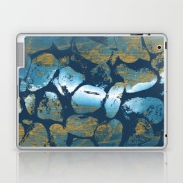 Blue Pebbles On Blue Laptop & iPad Skin