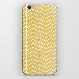 Yellow Chevron iPhone Skin