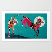 dogs Art Prints featuring dogs by Alvaro Tapia Hidalgo