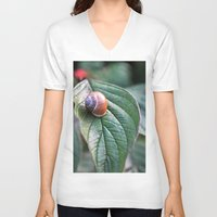 snail V-neck T-shirts featuring snail by  Agostino Lo Coco