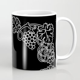 Abstract frame with bunches of grapes Coffee Mug