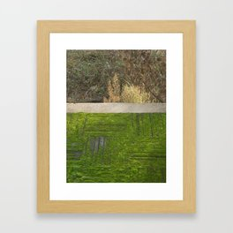 green moss abstract Framed Art Print