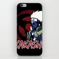 kakashi iPhone & iPod Skins featuring KAKASHI by BradixArt