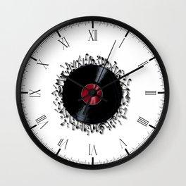 Musical Notes Record Wall Clock