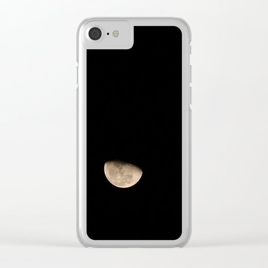 Moon... Clear iPhone Case