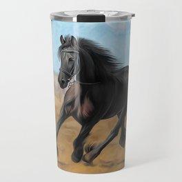 Drawing horse Travel Mug