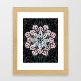 badger mandala Framed Art Print