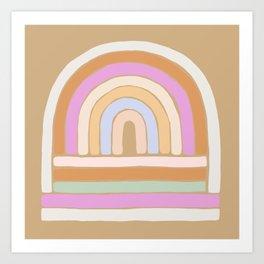 rainbow : sand Art Print