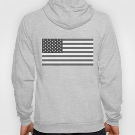 US national flag in Black and White Hoody