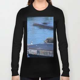 Seagull and Sea Lion Long Sleeve T-shirt