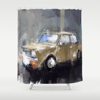 minion Shower Curtains featuring Minion by mystudio69
