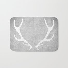 White & Grey Antlers Bath Mat