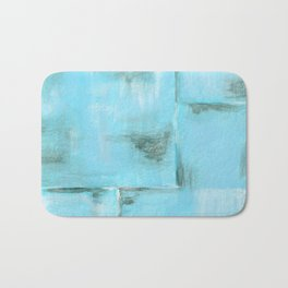 Frost, Abstract Art Painting Bath Mat
