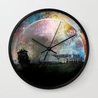 bioshock infinite Wall Clocks featuring Infinite by J.Lauren