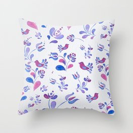 Violet Nature Throw Pillow