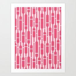 Spells - Geometric Pattern (Pink) Art Print